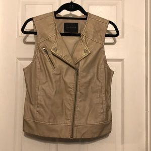 sanctuary faux leather vest